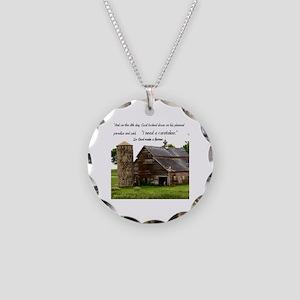 God Made a Farmer Necklace Circle Charm