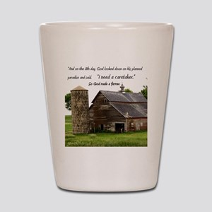 God Made a Farmer Shot Glass