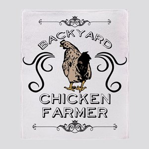 Backyard Chicken Farmer Throw Blanket