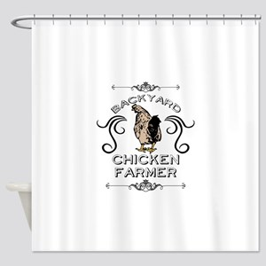 Backyard Chicken Farmer Shower Curtain