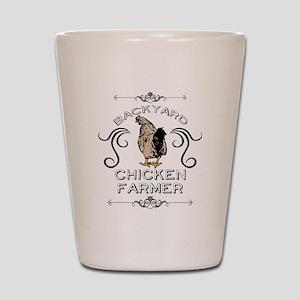 Backyard Chicken Farmer Shot Glass