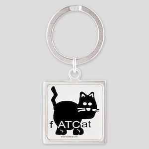 fATCat Square Keychain