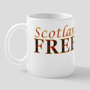 Scotland Freedom Golf red tartan Mug