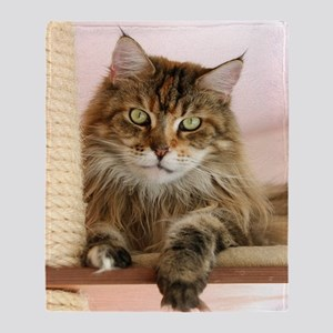 Maine Coon Throw Blanket