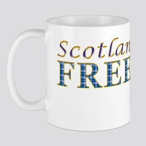 Scotland Freedom Golf blue tartan Mug
