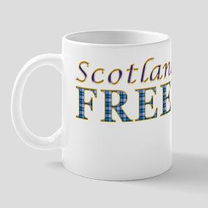 Scotland Freedom Golf blue tartan Mug