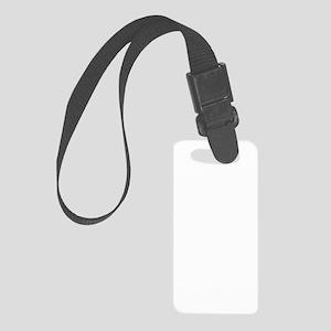 Man, woman, geek (dark) Small Luggage Tag