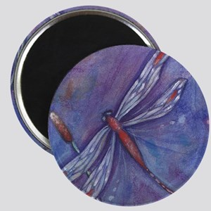 Purple Dragonfly Magnet