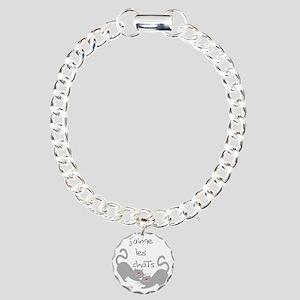 jaime les chats love cat Charm Bracelet, One Charm