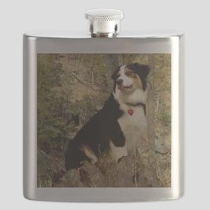 Grendel the Aussiepup Flask