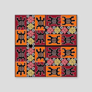 "African Art Square Sticker 3"" x 3"""