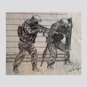 Police Tactics Throw Blanket