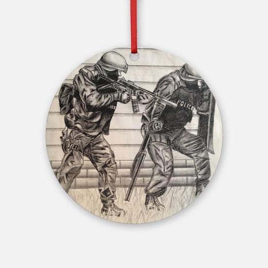 Police Tactics Round Ornament