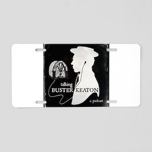 Talking Buster Keaton Logo Aluminum License Plate