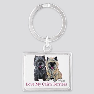 Love my Cairn Terriers Landscape Keychain