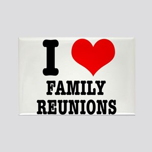 I Heart (Love) Family Reunions Rectangle Magnet