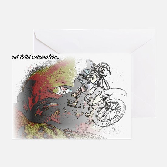 The Real Fun Begins Dirt Bike Motocr Greeting Card