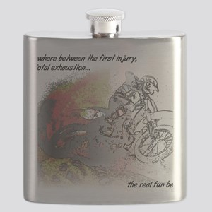 The Real Fun Begins Dirt Bike Motocross Flask