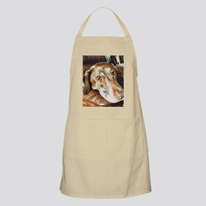 Chocolate Lab, Head on Sofa Apron