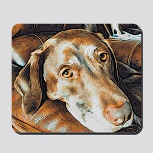 Chocolate Lab, Head on Sofa Mousepad