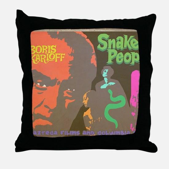 Snake People Throw Pillow