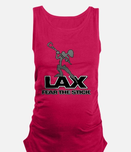 Abstract LAX Fear The Stick Maternity Tank Top