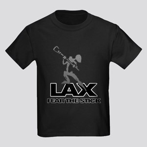 Abstract LAX Fear The Stick Kids Dark T-Shirt