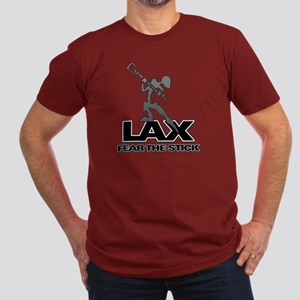 Abstract LAX Fear The Stick Men's Fitted T-Shirt (