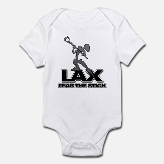 Abstract LAX Fear The Stick Infant Bodysuit
