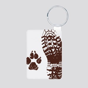 Boot n Paw Aluminum Photo Keychain