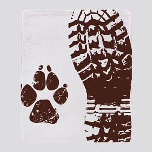 Boot n Paw Throw Blanket