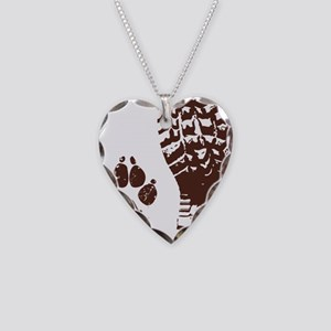 Boot n Paw Necklace Heart Charm