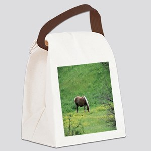 Amish Draft Horse Canvas Lunch Bag