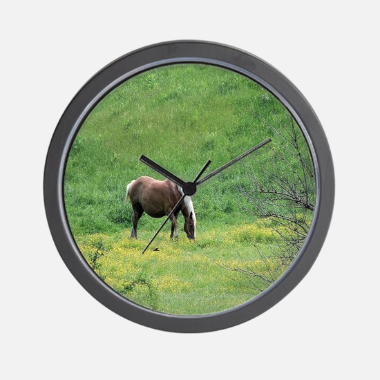 Amish Draft Horse Wall Clock