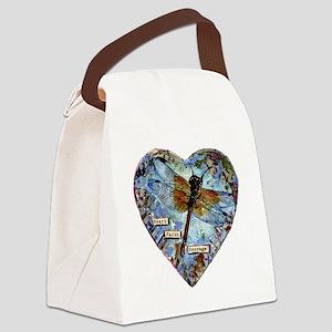 heart faith courage Canvas Lunch Bag
