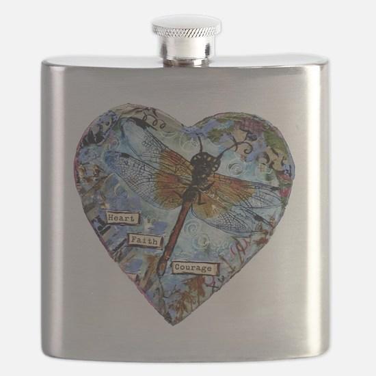 heart faith courage Flask