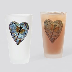 heart faith courage Drinking Glass