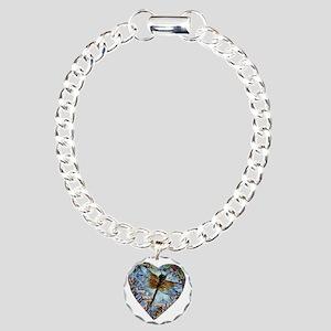 heart faith courage Charm Bracelet, One Charm