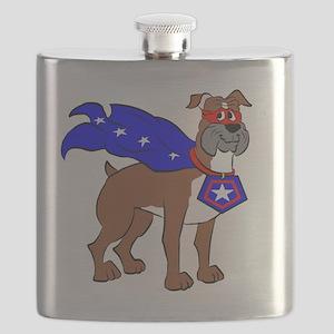 Boxer Super Hero Flask
