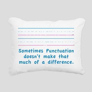 Punctuation Rectangular Canvas Pillow