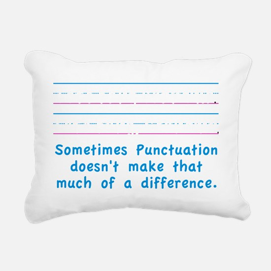 Punctuation Rectangular Canvas Pillow