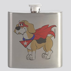 Beagle Super Hero Flask
