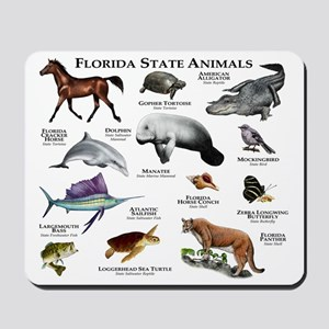 Florida State Animals Mousepad