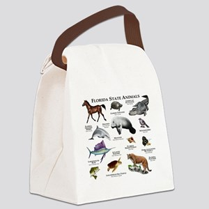Florida State Animals Canvas Lunch Bag
