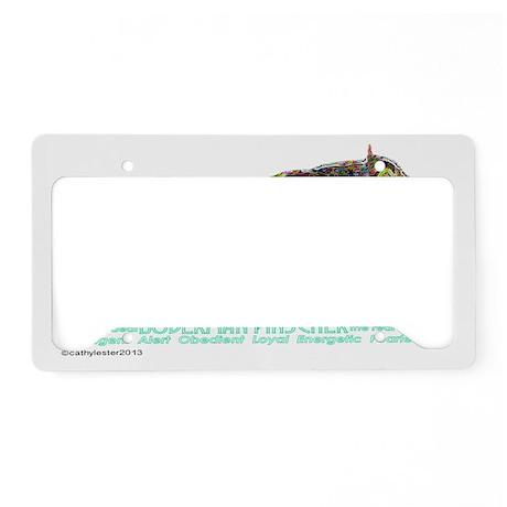 Doberman Pinscher Neon License Plate Holder