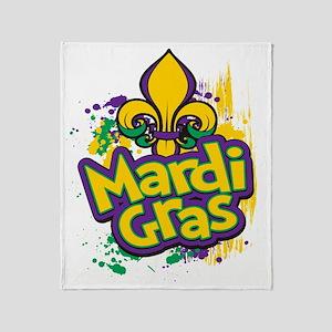 Mardi Gras Design D Throw Blanket