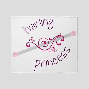 Twirling Princess Throw Blanket