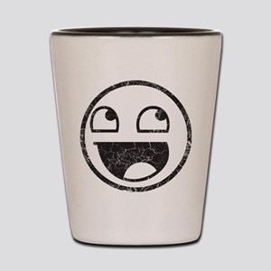 Epic Smiley Distressed Shot Glass