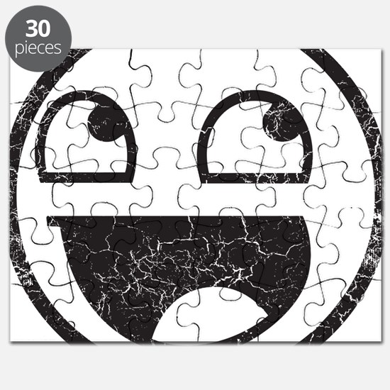 Epic Smiley Distressed Puzzle