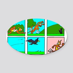 Java Cat - Hunting Oval Car Magnet